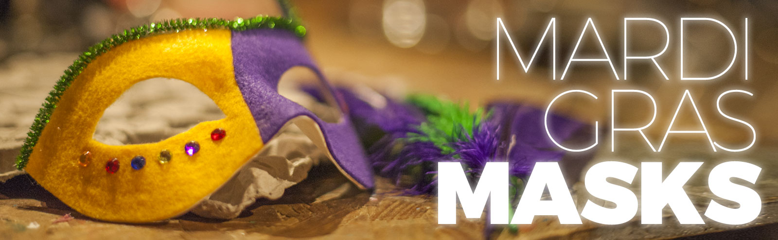 October 28 - Mardi Gras Masks!